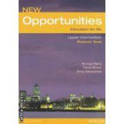 New Opportunities : Upper Intermediate Students Book ( edotira : Longman , autori : Michael Haeeis , David Mower , Anna Sikorzynska  ISBN 978-0-582-85423-9 )