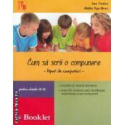 Cum sa scrii o compunere - tipuri de compuneri - pentru clasele VII - VIII ( editura: Booklet, autori: Ioana Triculescu, Madalina Buga - Moraru ISBN 978-606-590-075-2 )