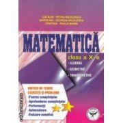 Matematica clasa a X -a: algebra, geometrie, trigonometrie; sinteze de teorie, exercitii si probleme ( Editura: ICAR, Autor: Catalin Petru Nicolescu ISBN 978-973-606-127-1 )