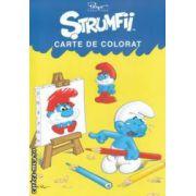 Strumfii - Carte de colorat ( editura : Mediadocs , trad . : Sergiu Bica ISBN 978-606-93213-0-0 )