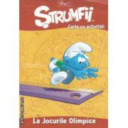 Strumfii - Carte cu activitati - La Jocurile Olimpice  ( editura : Mediadocs , trad . : Sergiu Bica ISBN 978-606-93213-4-8 )