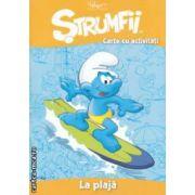 Strumfii - Carte cu activitati - La plaja ( editura : Mediadocs , trad . : Sergiu Bica ISBN 978-606-93213-3-1 )