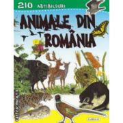 Animale din Romania + 210 abtibilduri ( editura : Flamingo GD , trad . : Victoria Milescu ISBN 978-973-7948-69-4 )