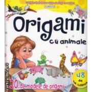 Origami cu animale , 20 de modele de origami , 48 de foi colorate ( editura : Flamingo GD , text : Liliana Fabisinska ISBN 978-973-7948-71-7 )