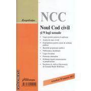 Noul Cod civil si 9 legi uzuale - actualizat 20 ianuarie 2013 ( editura : Hamangiu ISBN 978-606-522-902-0 )