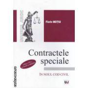 Contractele speciale in noul cod civil ( editura : Universul Juridic , autor : Florin Motiu , ISBN 978-973-127-944-2 )