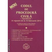 CODUL DE PROCEDURA CIVILA - republicat - in vigoare de la 15 februarie 2013 ( editura : Lumina Lex , ISBN 978-973-758-226-3 )