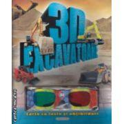 Excavatoare 3D - carte cu teste si abtibilduri ( editura : Girasol , trad . Luana Schidu ISBN 978-606-525-278-3 )
