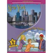 Macmillan children ' s Readers - New York : Adventure in the Big Apple - Level 5 ( editura : Macmillan , autor : Paul Shipton ISBN 978-0-230-40502-8 )