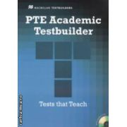 PTE Academic Testbuilder - Tests that Teach with 3 CDs ( editura: Macmillan ISBN 978-0-230-42786-0 )