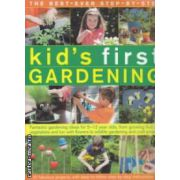 Kid's first  gardening ( Editura : Hermes House , Autor :Jenny Hendy ISBN 978-1-84681-490-7 )