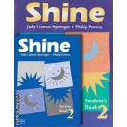 PROMOTIE : Shine 2 Student ' s book + Activity book ( editura : Macmillan , autori : Philip Prowse , Judy Garton - Sprenger )