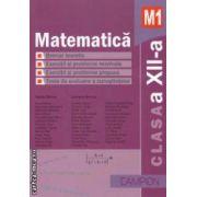 Culegere de probleme - Matematica M1 pentru clasa a XII - a ( editura : Campion , autori : Marius Burtea , Georgeta Burtea ISBN 978-606-8323-57-2 )