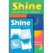 PROMOTIE : Shine 3 Student ' s book + Activity book ( editura : Macmillan , autori : Philip Prowse , Judy Garton - Sprenger )