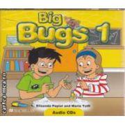 Big Bugs 1 Audio CDs ( editura: Macmillan, autori: Elisenda Papiol, Maria Toth ISBN 978-1-4050-6174-2 )