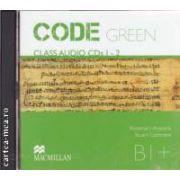 CODE GREEN B1+ Class Audio CDs 1 - 2 ( editura: Macmillan, autori: Rosemary Aravanis, Stuart Cochrane ISBN 978-960-447-299-4 )
