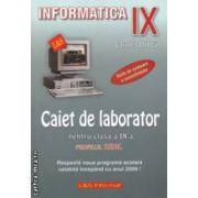 Informatica - Caiet de laborator pentru clasa a IX - a PROFILUL REAL ( editura: L & S Info - mat, autor: Carmen Minca ISBN 973-7658-01-9 )