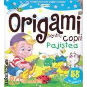 Origami pentru copii - Pajistea , contine 20 de modele si 58 de foi colorate ( editura : Flamingo , trad . : Victoria Milescu ISBN 978-973-7948-93-9 )