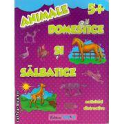 Animale domestice si salbatice - activitati distractive - 5+ ( editura: Trend, ISBN 978-606-8370-38-5 )