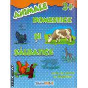 Animale domestice si salbatice - carte de colorat cu abtibilduri - 3+ ( editura : Trend , ISBN 978-606-8370-36-1 )
