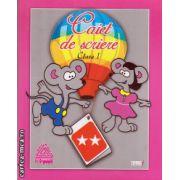 Caiet de scriere clasa I ( editura : Tiparg , ISBN 978-973-735-521-8 )