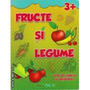 Fructe si legume - carte de colorat cu abtibilduri - 3+ ( editura : Trend , ISBN 978-606-8370-37-8 )