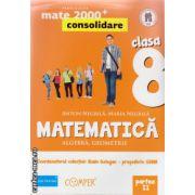 Matematica 2000 consolidare : Algebra , Geometrie : clasa a VIII - a , Partea II ( editura : Paralela 45 , coord . Radu Gologan ISBN 978-973-47-1812-2 )