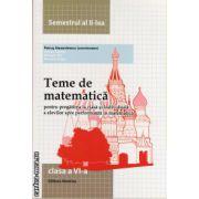 Teme de matematica - clasa a VI -a , semestrul al II -lea ( editura : Nomina , coord. : Petrus Alexandrescu , ISBN 978-606-535-587-3 )