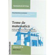 Teme de matematica - clasa a V -a , semestrul al II -lea ( editura : Nomina , coord. : Petrus Alexandrescu , ISBN 978-606-535-586-6 )