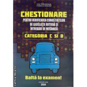 Chestionare pentru verificarea cunostintelor de legislatie rutiera si intrebari de mecanica categoriile C si D  ( editura : Shik , autori : Dan Teodorescu ,  ISBN 978-973-8924-51-2 )