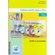Evaluare pentru clasa a VI - Teste - Limba si comunicare ( Editura: Booklet, autor: Ionut Craciun, ISBN 9786065901766 )