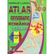 Atlas geografic al Romaniei - scolar ( editura: Carta Atlas, autor: Marius Lungu, ISBN 978-606-93661-1-0 )