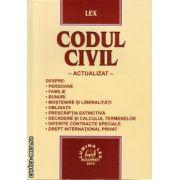 Codul civil - actualizat ( editura : Lumina Lex , ISBN 978-973-758-236-2 )
