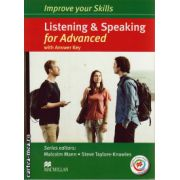 Improve your Skills for Advanced (CAE) Listening & Speaking Student's Book with key & MPO Pack and 3 audio CDs ( editura: Macmillan, autor: Malcolm Mann, ISBN 9780230462847 )