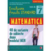 Teste de evaluare finala standard - matematica clasa a 7 - a ( editura: Paralela 45, autor: Sorin Peligrad, ISBN 978-973-47-1860-3 )