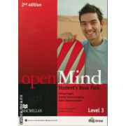 Open Mind Level 3 Student's Book Pack 2nd edition ( editura: Macmillan, autor: Mickey Rogers, ISBN 978-0-230-45972-4 )