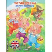 The three little pigs : Cei trei purcelusi - poveste bilingva romana - engleza ( editura : Girasol , ISBN 978-606-525-457-2 )