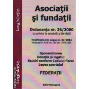 Asociatii si fundatii ( editura: Morosan, ISBN 978-606-626-013-8 )