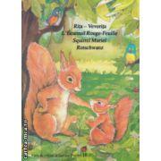 Rita - Veverita / L ' Ecureuil Rouge - Feuille / Squirrel Muriel / Rotschwanz Carte de colorat si decupat ( Editura: Alcor, ISBN 973-98341-5-9 )