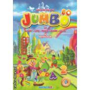 Jumbo Carte de colorat cu alfabet cifre fructe legume culori si abtibilduri ( Editura : Eurobookids ISBN 978-606-8373-24-9 )