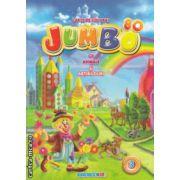 Jumbo Carte de colorat cu animale si abtibilduri nr 3  ( Editura : Eurobookids , ISBN 978-606-8373-25-6 )
