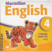 Macmillan English 4 Language Audio CDs ( Editura: Macmillan ISBN 978-1-4050-9620-1 )