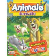 Animale fericite Distractie in culori carte de colorat ( Editura: Prichindel ISBN 978-606-93009-3-0 )
