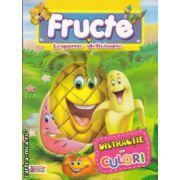 Fructe si legume delicioase Distractie in culori carte de colorat ( Editura: Prichindel, ISBN 978-606-93009-4-7 )