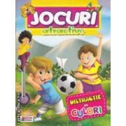 Jocuri atractive Distractie in culori carte de colorat ( Editura: Prichindel ISBN 978--606-93009-5-4 )