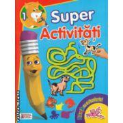Super activitati numarul 1 Distractie cu autocolante ( Editura : Prichindel ISBN 978-606-93009-1-6 )