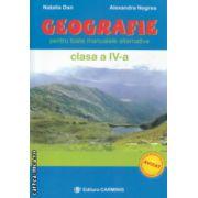 Geografie pentru toate manualele alternative clasa a IV a ( Editura : Carminis , Autor : Natalia Dan , Alexandra Negrea ISBN 978-973-7826-80-0 )
