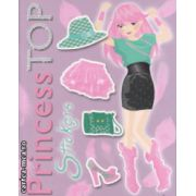 Princess Top Stickers ( mov ) ( Editura : Girasol ISBN 978-606-525-545-6 )