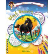 Colectia Carla coloreaza : Black Beauty - carte de colorat + poveste (editura : Astro , ISBN 978-606-8148-53-3 )