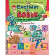 Exersam cu Robik Caiet de matematica clasa a II a ( Editura : Carminis , Autor : Aurelia Arghirescu , Florica Ancuta ISBN 978-973-123-217-1 )